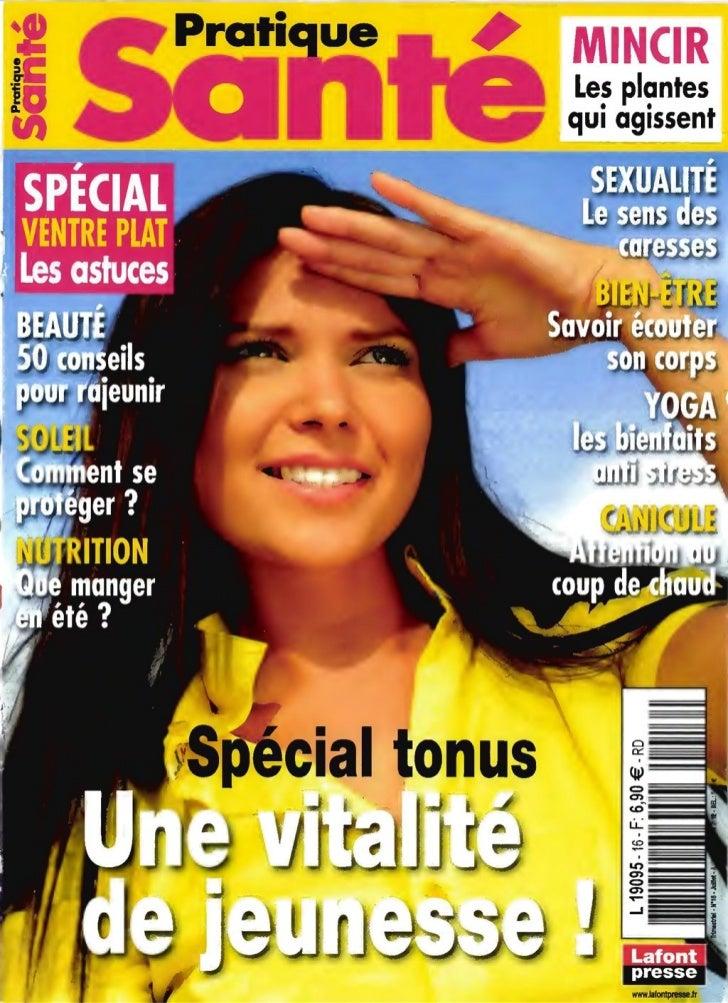 Pratique sante n°16 juillet septe. 2012