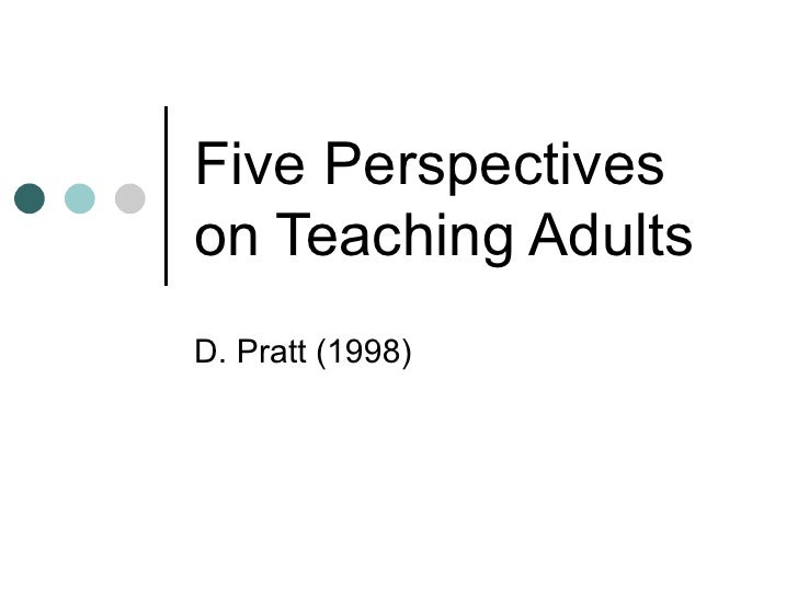 Five Perspectives on Teaching Adults D. Pratt (1998)
