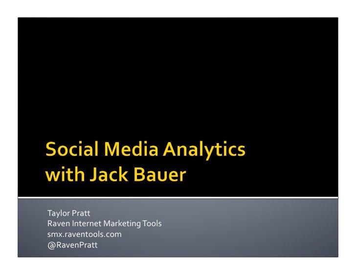 Analytics for Social Media