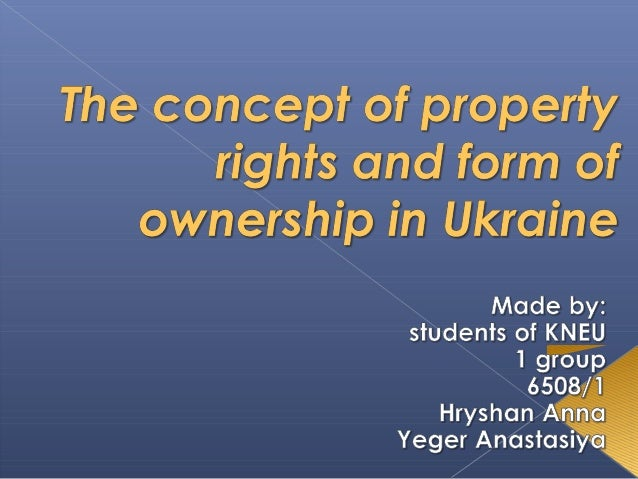  According to the Article 41 of the Constitution of Ukraine, everyone has the right by their property, and the results of...