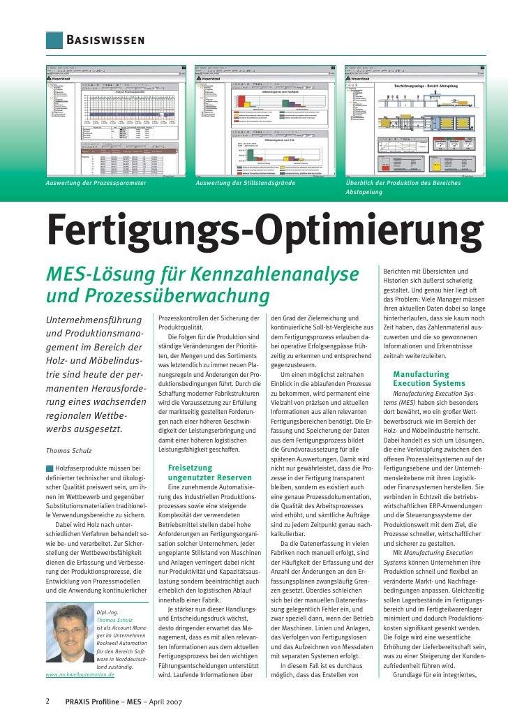 Fertigungs-Optimierung - MES-Lösung für Kennzahlenanalyse und Prozessüberwachung