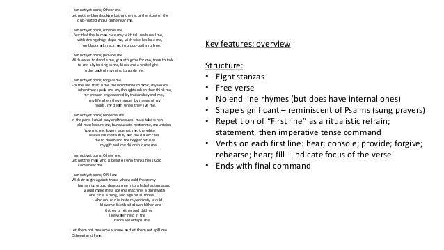 english literature summary and analysis