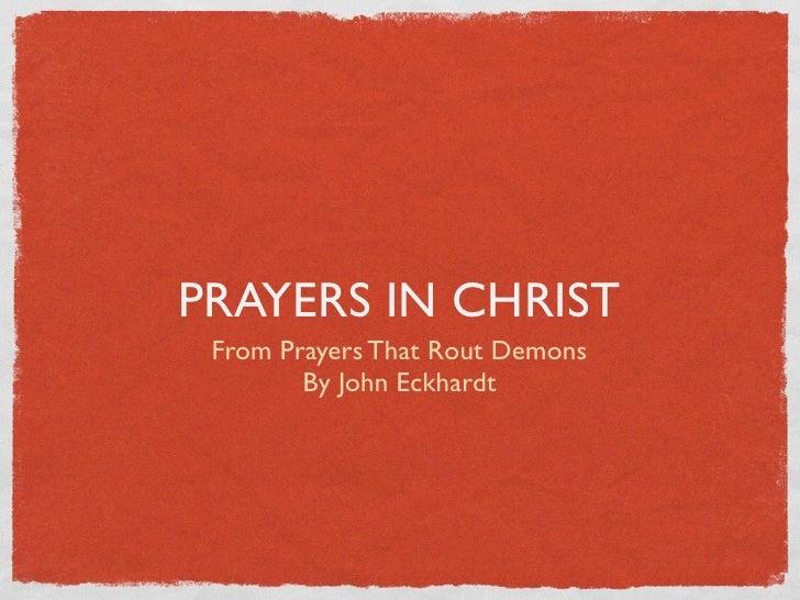 Prayers in christ