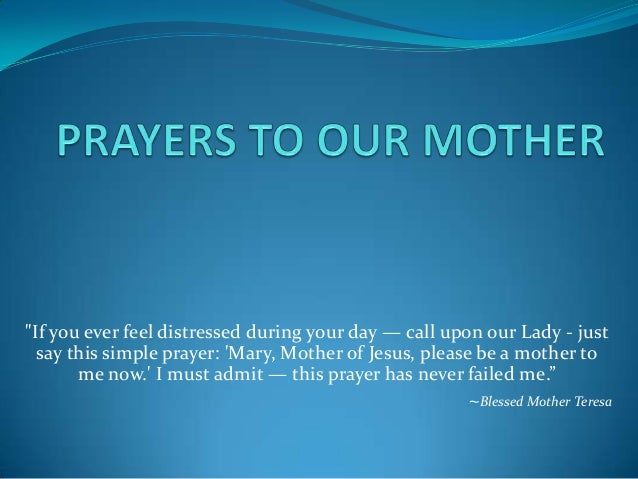 Prayers to Mother Mary