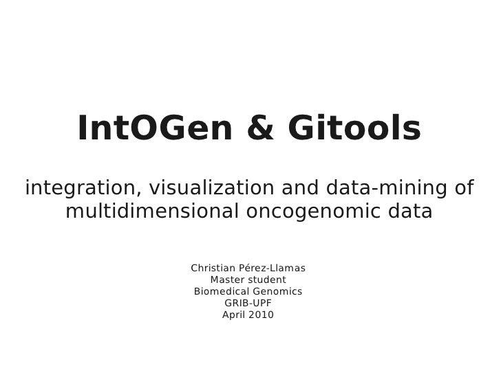 IntOGen & Gitools