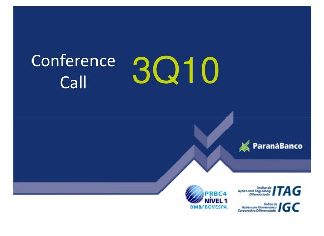 3Q10Conference Call