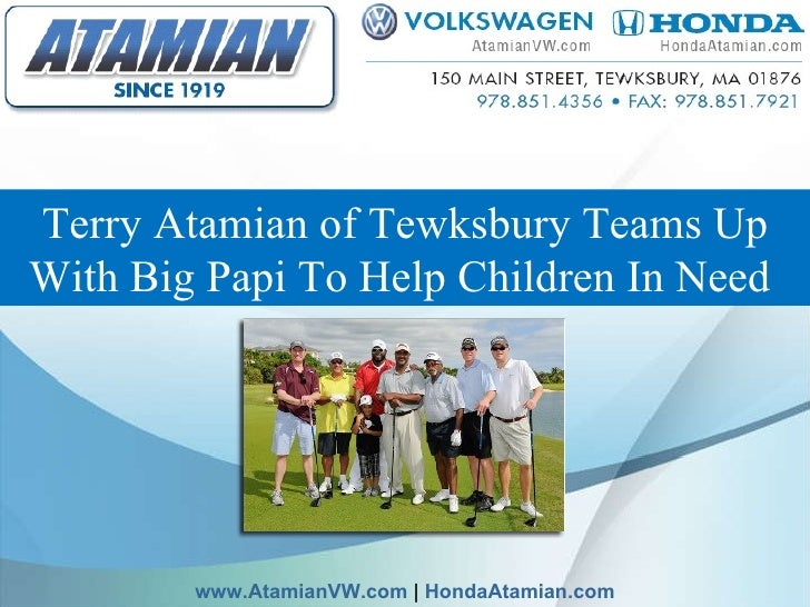 Terry Atamian of Tewksbury Teams Up With Big Papi To Help Children In Need   www.AtamianVW.com  |  HondaAtamian.com