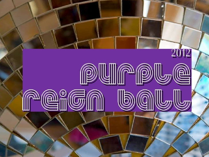 Purple Reign Ball 2012 Save the Date