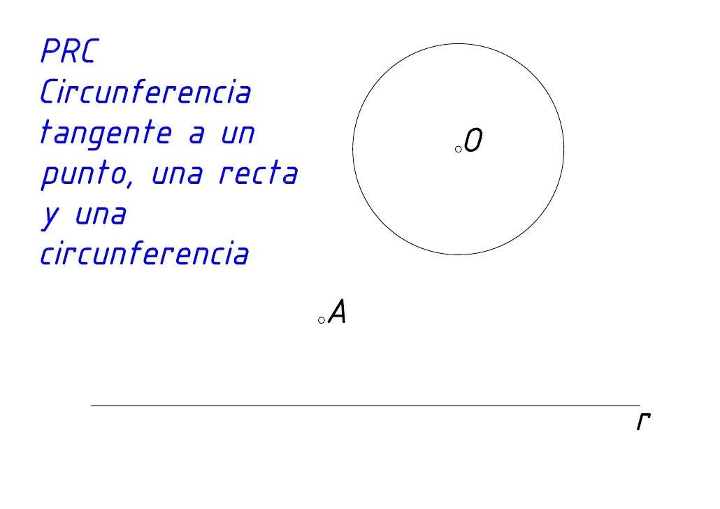 Tangencias Circunferencia tangente a un punto, una recta y una circunferencia