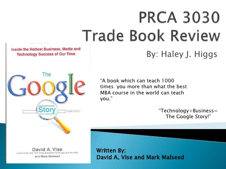 """PRCA 3030 Trade Book Review<br />By: Haley J. Higgs<br />""""A book which can teach 1000 times you more than what the best M..."""