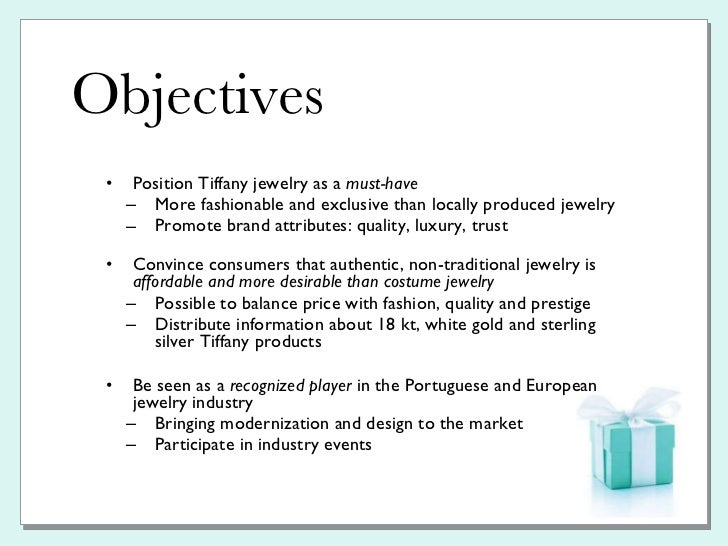 tiffany  u0026 co  pr plan