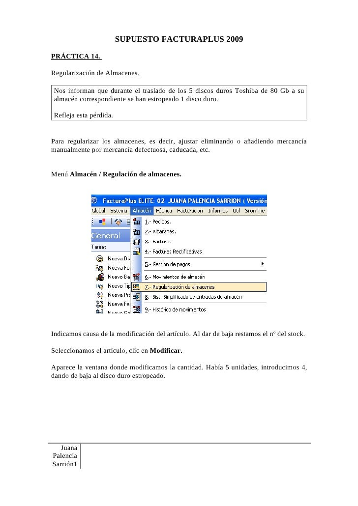 Práctica 14. Facturaplus 2009