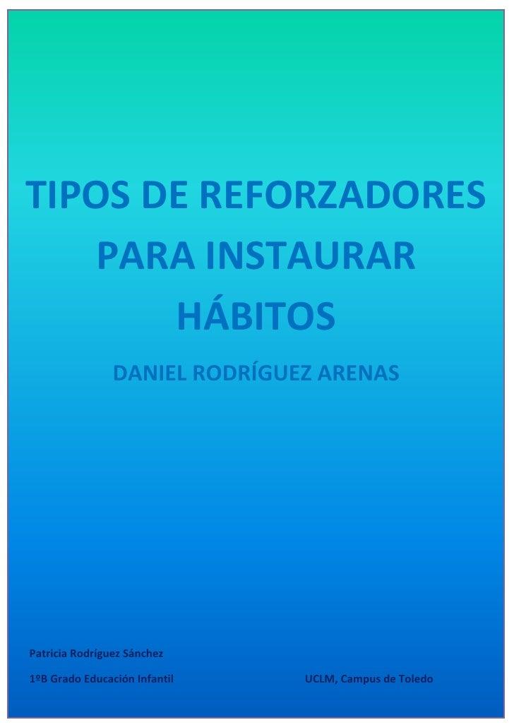 Práctica 15 (individual) tipos de reforzadores para instaurar hábitos