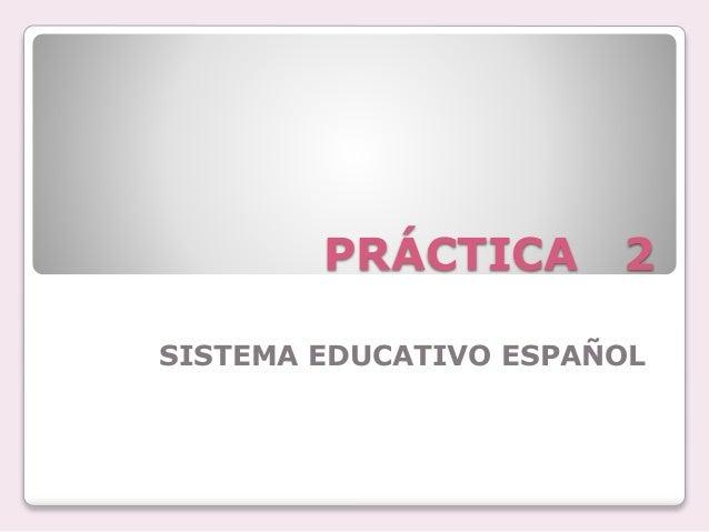 el sistema educativo español