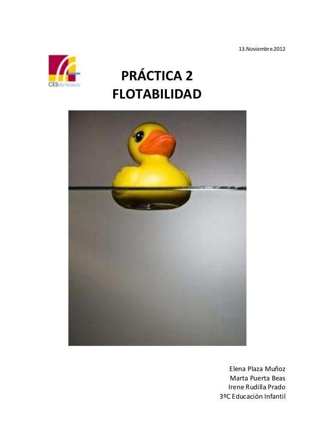 Práctica 2 (flotabilidad)