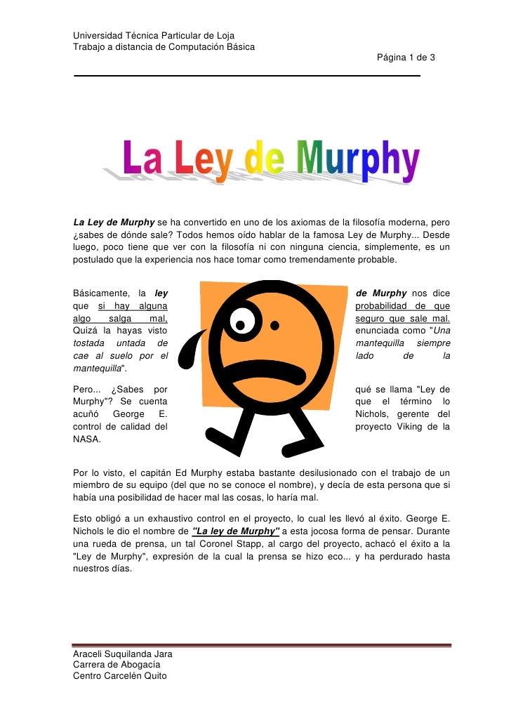 centercenterLa Ley de Murphy se ha convertido en uno de los axiomas de la filosofía moderna, pero ¿sabes de dónde sale? To...