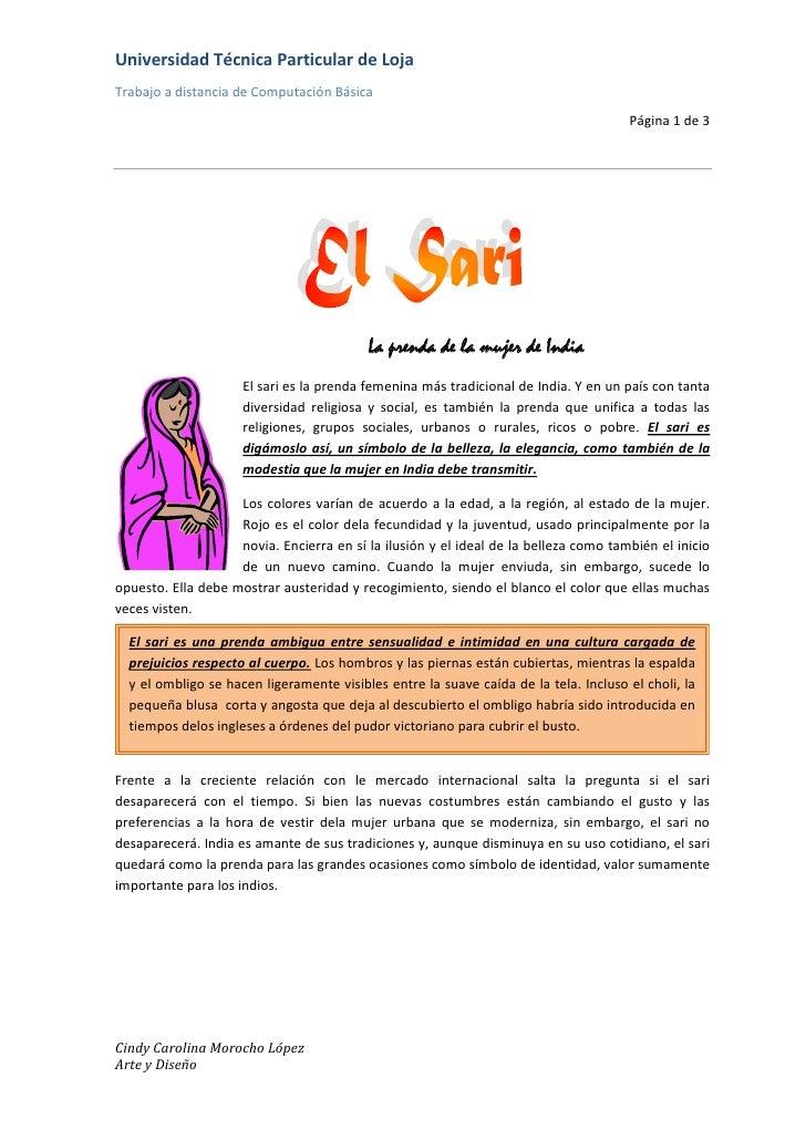 La prenda de la mujer de India<br />15240-3810El sari es la prenda femenina más tradicional de India. Y en un país con tan...