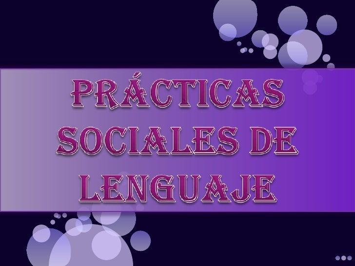 Prácticas sociales de lenguaje