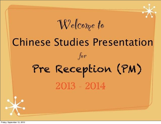 Pre reception CN Keynote
