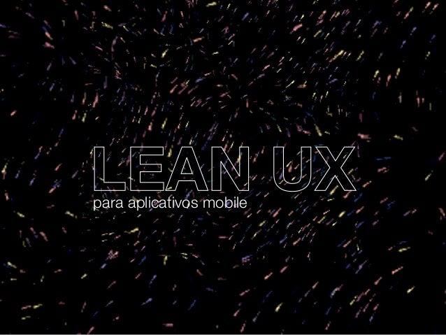 LEAN UXpara aplicativos mobile