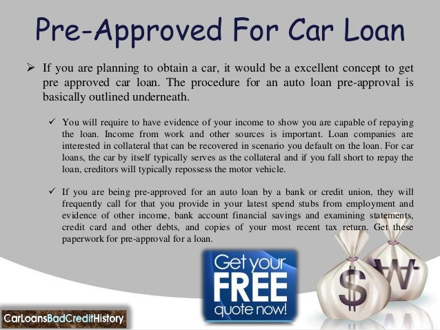 Car Loan Application For Bad Credit