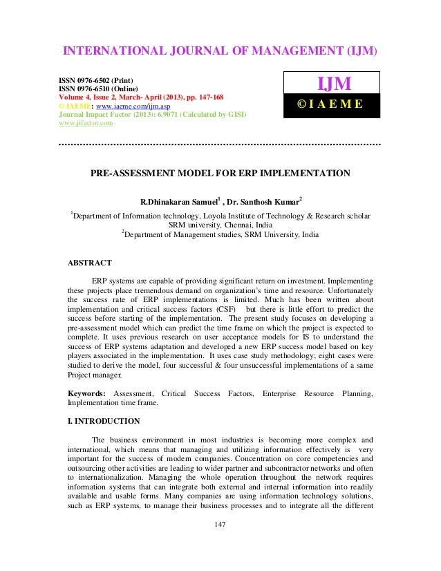 International Journal of Management (IJM), OF 0976 – 6502(Print), ISSN 0976 – INTERNATIONAL JOURNAL (2013)MANAGEMENT (IJM)...