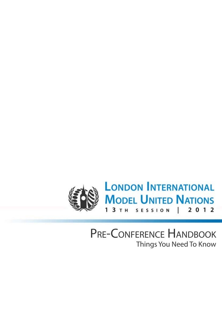 LiMUN Pre conference handbook (for selected delegates)