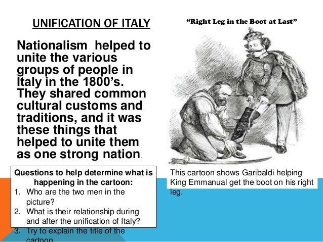 unification of italy essay Italian unification essay - 1956 words | cram he organized a corps of volunteers, which served under the piedmontese ruler charles albert, king of sardinia he unsuccessfully.