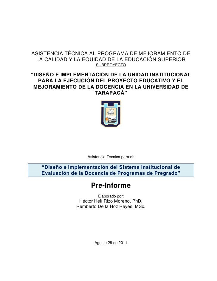 ASISTENCIA TÉCNICA AL PROGRAMA DE MEJORAMIENTO DE LA CALIDAD Y LA EQUIDAD DE LA EDUCACIÓN SUPERIOR                        ...