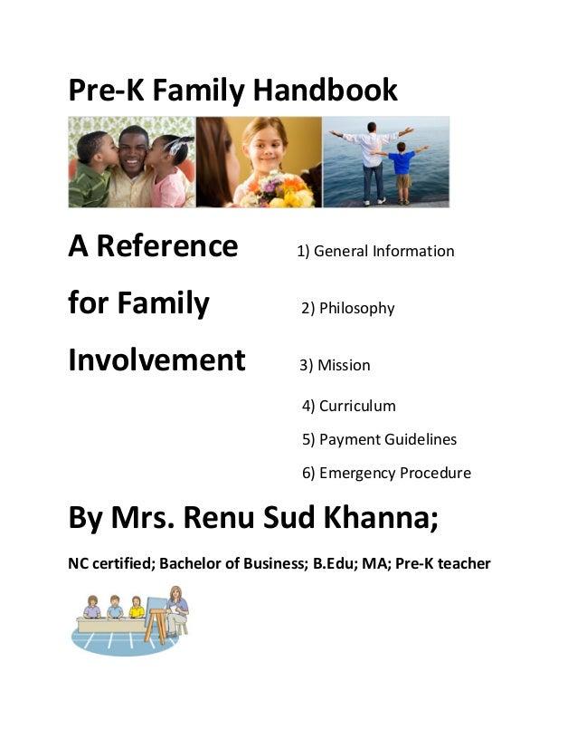 Pre-‐K Family Handbook                                                                                               ...