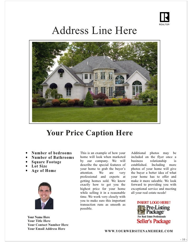 Free Real Estate Flyer Template 1