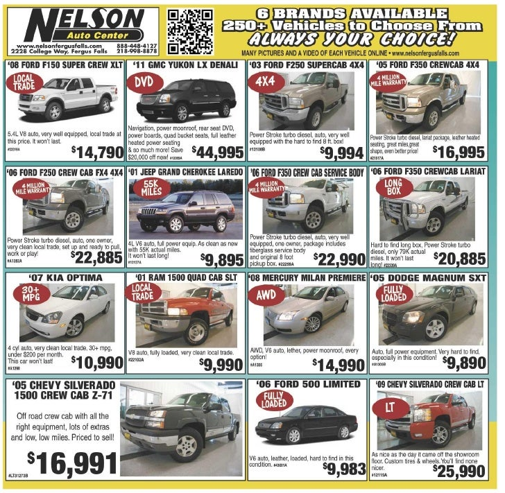 Pre-owned vehicles for sale at our Fargo car dealership | Nelson Auto Center
