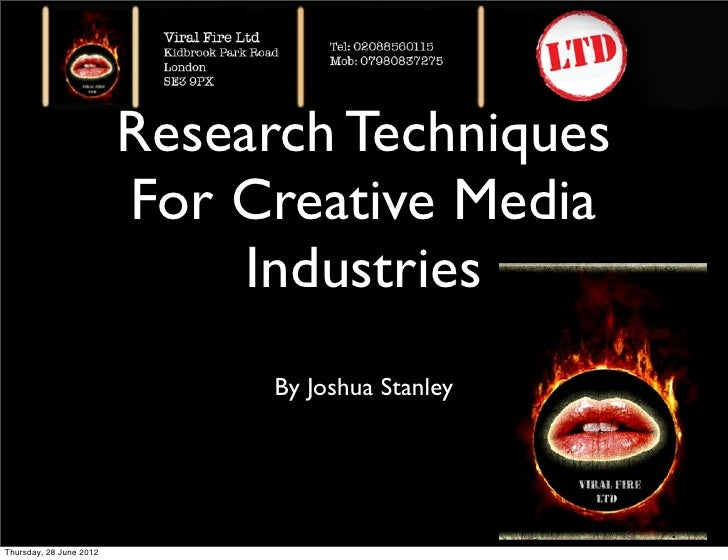 Research Techniques                         For Creative Media                              Industries                    ...