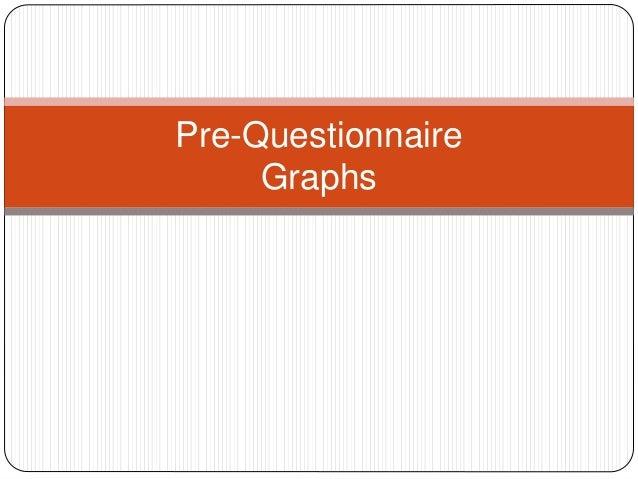 Pre-Questionnaire Graphs