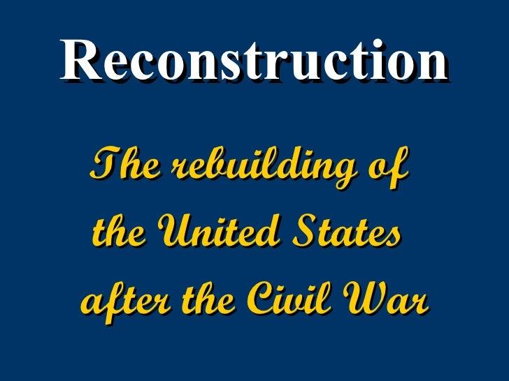 Pre reconstruction