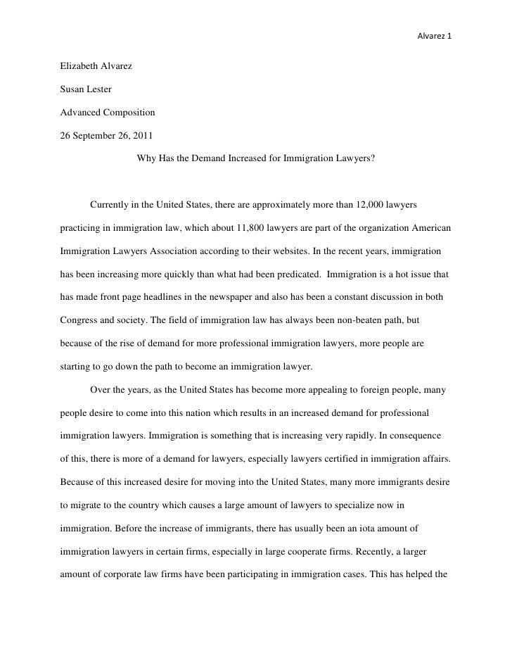 Alvarez 1Elizabeth AlvarezSusan LesterAdvanced Composition26 September 26, 2011                    Why Has the Demand Incr...