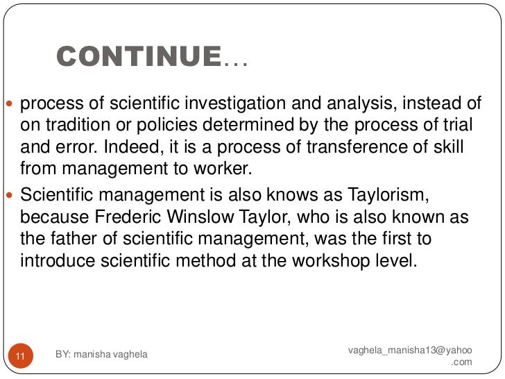 describe and critique on scientific management Transcript of the scientific management/ perspective critical and feminist theories provide that critique and examine from the scientific management point.