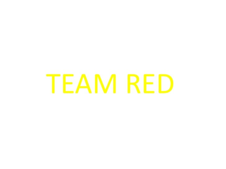 Presentation Team Red