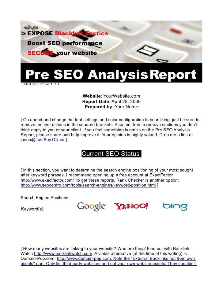 FREE Website Audit: The Pre SEO Analysis Checklist