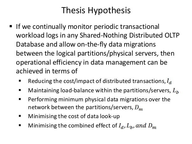 Distributed databases thesis