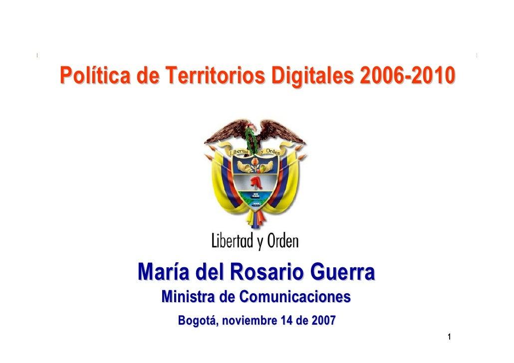 Ministerio de                                               Comunicaciones                                             Rep...
