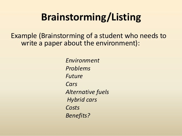 Pre Writing Strategies