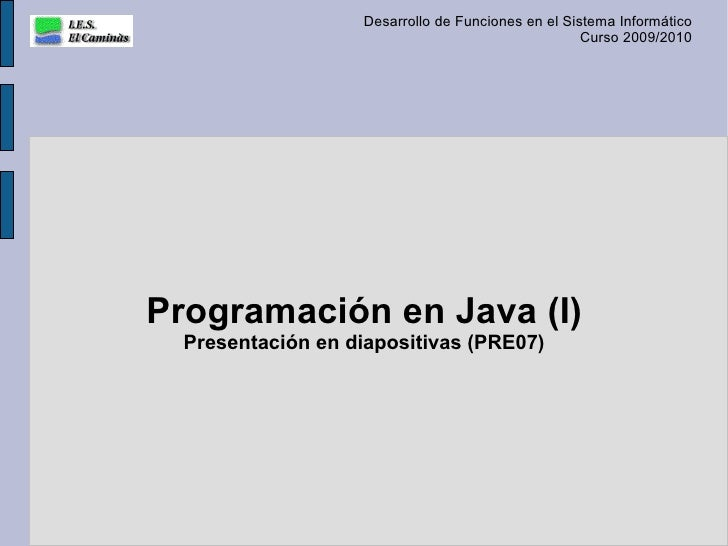 Programación en Java (I)