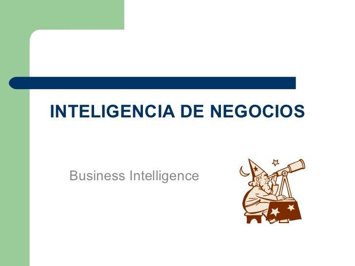Inteligencia de Negocios
