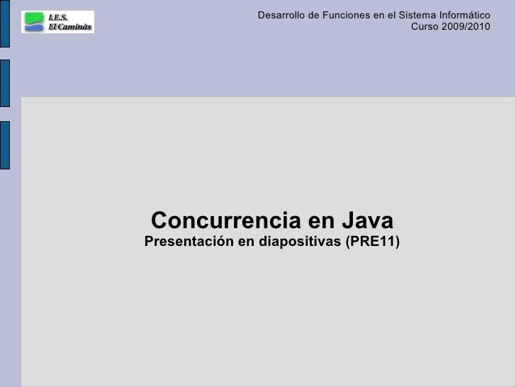 Concurrencia en Java