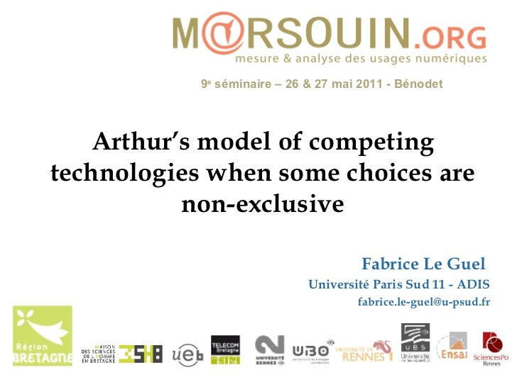 Arthur's model of competing technologies when some choices are non-exclusive
