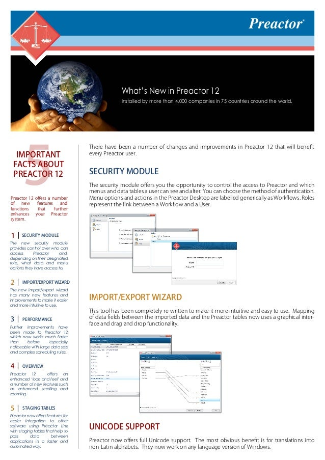 Preactor 12 (Brochure)_What`s New (APS-system/Advanced Planning and Scheduling System)