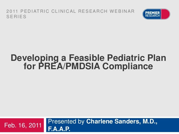 Developing a Feasible Pediatric Plan for PREA/PMDSIA Compliance