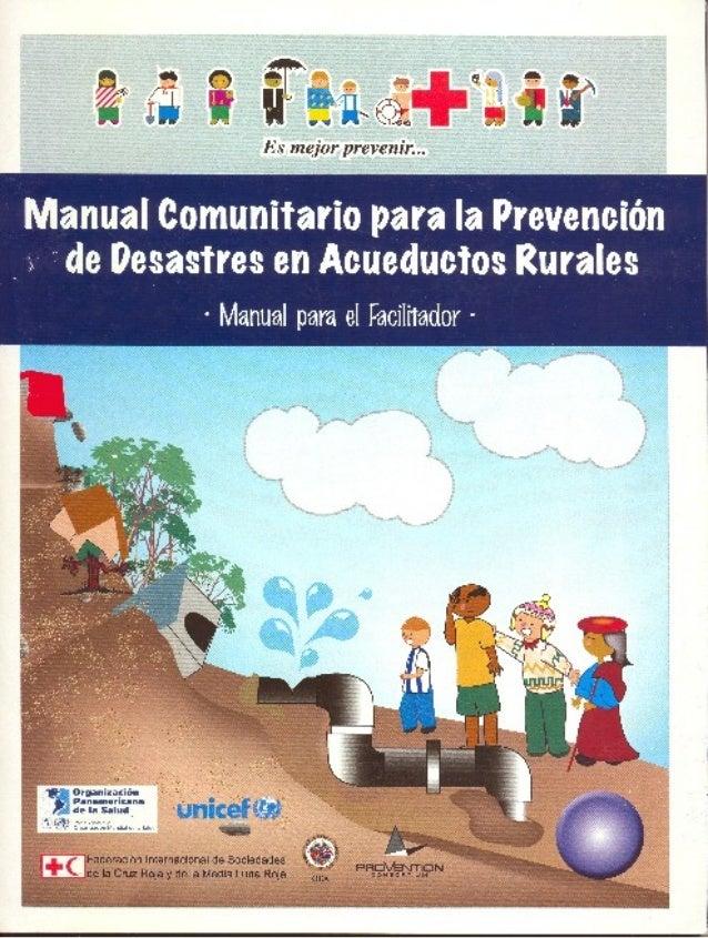 Prebencion de desastres acueductos rurales
