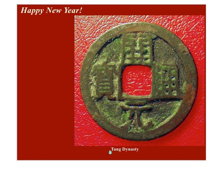 Happy New Year!                       Tang Dynasty
